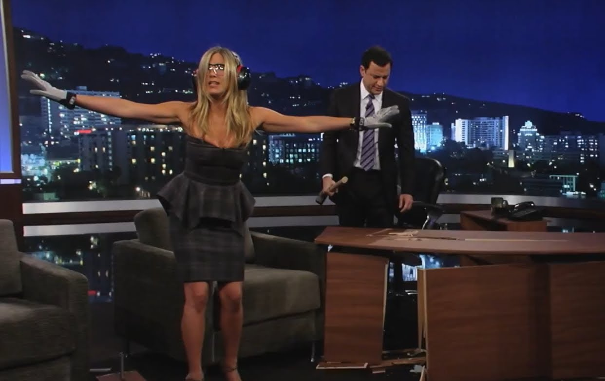 jennifer aniston destroys jimmy kimmel